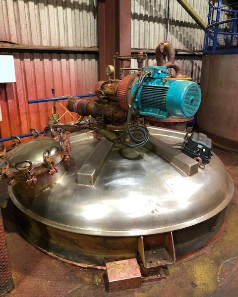 4,500 Litre Hosokawa Model 45-VDR-03 Stainless Steel Conical Mixer Dryer