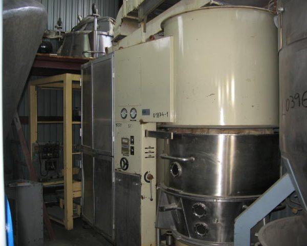Calmic-Cisa (Italy) Type C12 MK Stainless Steel Batch Fluid Bed Dryer