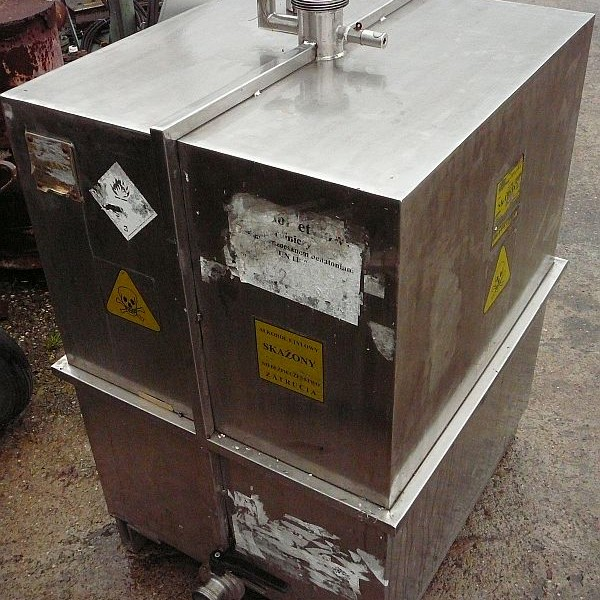 500 Litre Stainless Steel Rectangular Storage Tank 700mm x 800mm Long