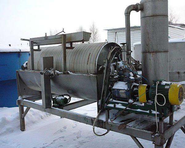 900mm X 2100mm, 6.0 Sq M, Krauss Maffei Stainless Steel Rotating Drum Pre-Coating Vacuum Filter
