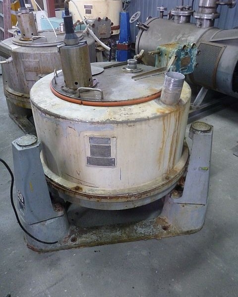 33″ X 15″ Sangerhausen Stainless Steel Perforated Basket Centrifuge