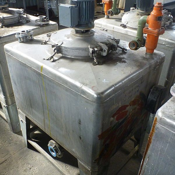 450 Litre Stainless Steel Rectangular Mixing Tank 730mm x 930mm Long