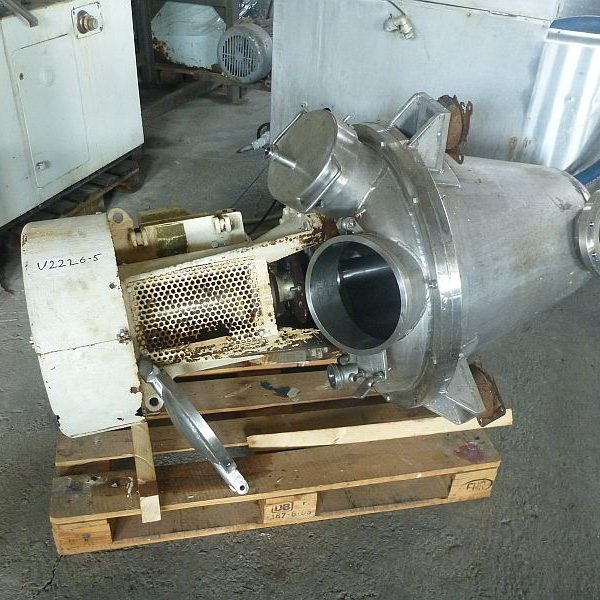 8/11 kW Gunter Papenmeier Stainless Steel Conical Mixer 150 Litre