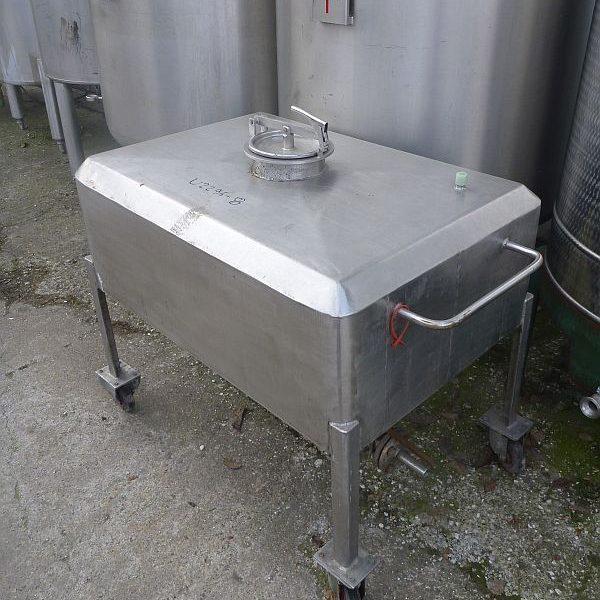 400 l rectangular stainless steel storage tank