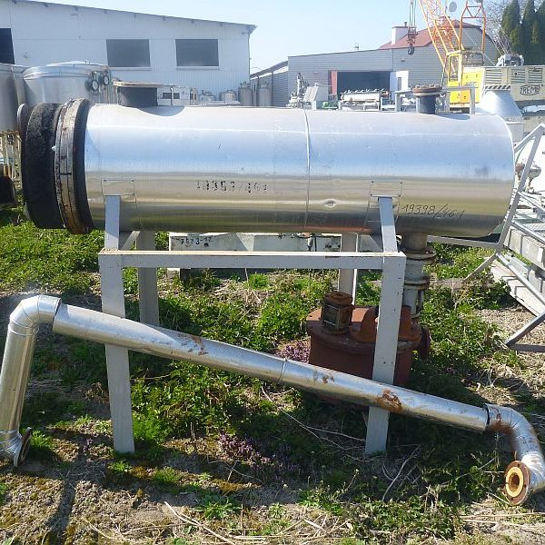 14.4 Sq. M. Horizontal Shell and Tubes Heat Exchanger Stainless Steel