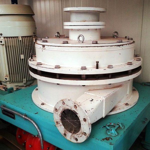 Second hand vertical gap mill by Bauermeister type GM 80.1 EX 75 kW ATEX