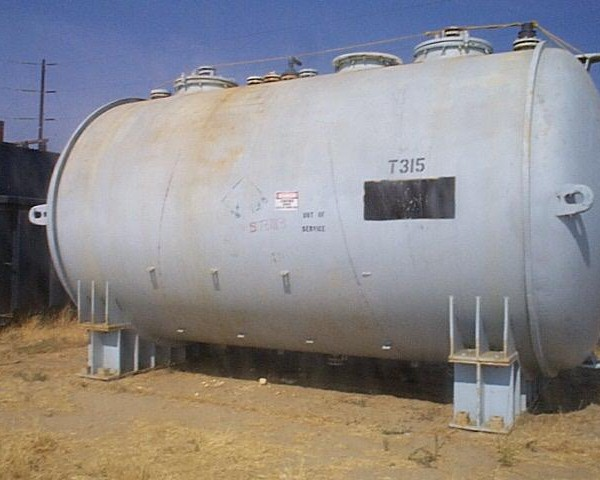 12,830 Gallon, 126″ X 17'8″, 15 PSI, De Dietrich Glastor Glass Lined Tank