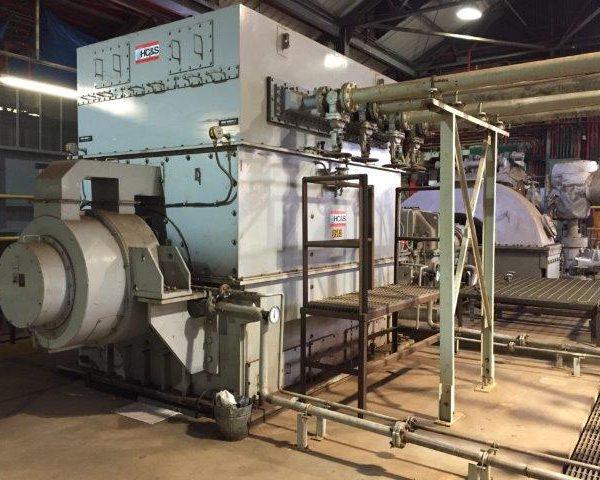 20 MW Mitsubishi Turbogenerator with Meiden Synchronous Generator