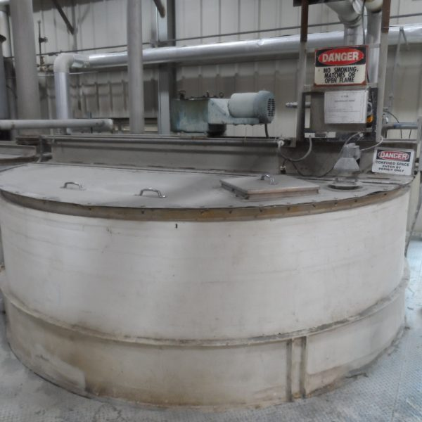 6,000 Gallon Stainless Steel Tank, 10'8″ Dia. X 9′ Straight Side