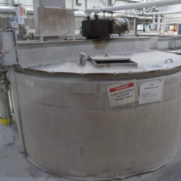 3,700 Gallon Stainless Steel Tank, 8′ Dia. X 10′ Straight Side