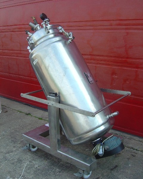 440 Litre Stainless Steel Jacketed Mixing Vessel, 650mm Dia x 1150mm Straight Side