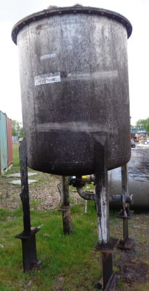 2,300 Litre Stainless Steel Vertical Storage Vessel, 1400mm Dia x 1500mm Straight Side