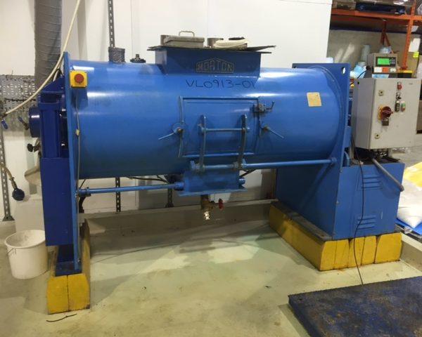 800 Litre Morton Model FKM800 Stainless Steel Ploughshare Mixer