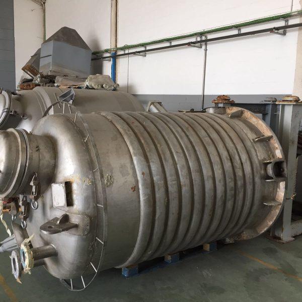55″ Dia. 3000 Litre Bachiller Hastelloy C-276 Vacuum Pan Dryer/Evaporator