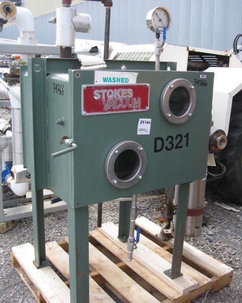 12 Sq. Foot, 3 Shelves Stokes Stainless Steel Vacuum Shelf Dryer