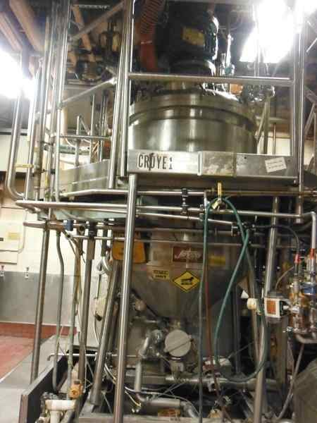 275 Gallon 20 HP Jaygo 316 Stainless Steel Vacuum Mixer