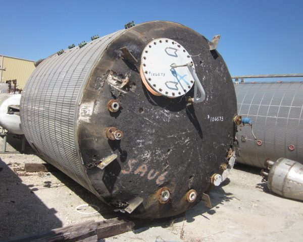 5000 Gallon 15 PSI Internal, 100 PSI Jacket 304L Stainless Steel Dilution Tank
