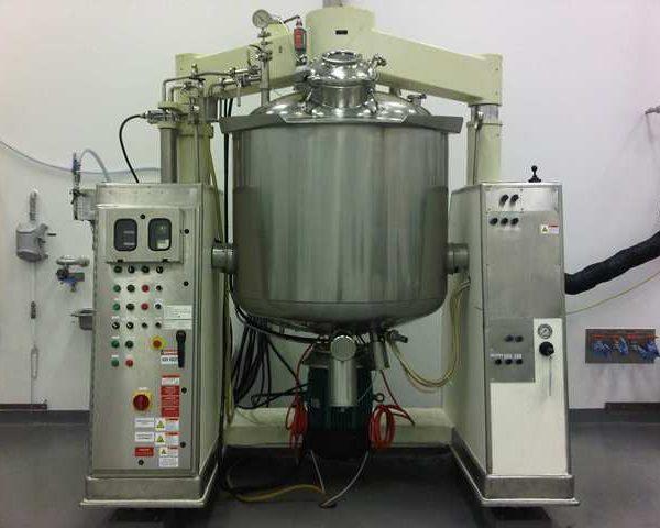 264 Gallon (1000 Liter) 7.5 HP Krieger Stainless Steel Triple Shaft Vacuum Mixer