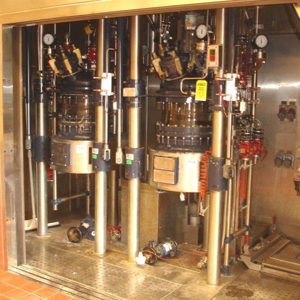 19 Gallon 150 FV Internal, 150 Jacket R&M Italia Glass Lined Reactor Train