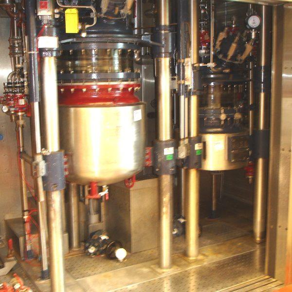 42 Gallon 150 FV Internal, 150 Jacket R&M Italia Glass Lined Reactor Train