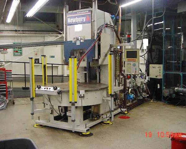 200 Ton 9 Oz. Shot Newbury  4-Station Vertical Rotary Injection Molder