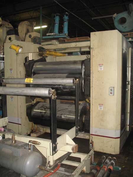 50″ Wide Processing Technologies Inc 3-Roll Down Stack