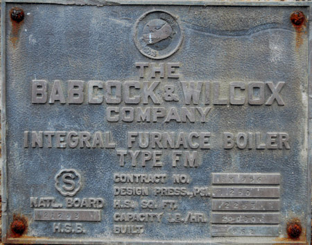 20,000#/Hour 250 PSI Babcock & Wilcox Packaged Water Tube Boiler