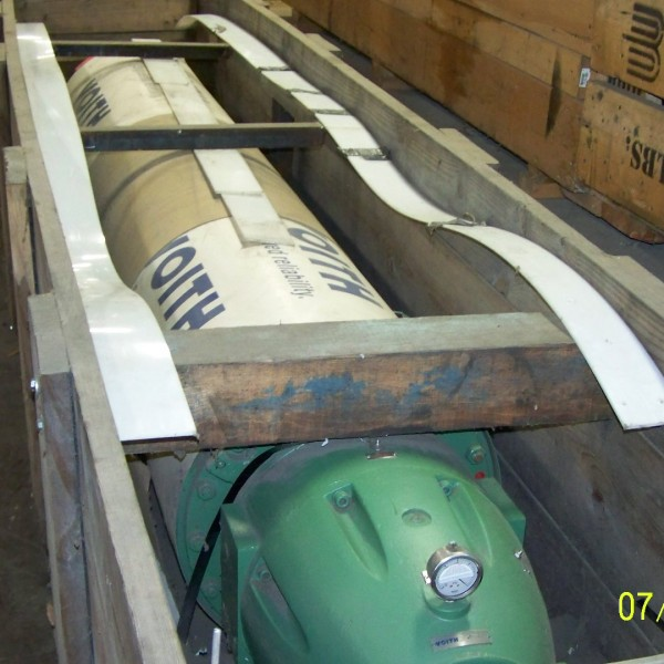 114″ Face X 22″ Diameter Voith Rubber Suction Roll