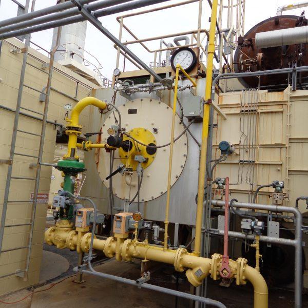 12,000 #/Hour 250 PSI Nebraska D Type Watertube Package Boiler