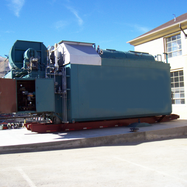 70,000 #/Hour 300 PSI Nebraska Package Watertube Boiler