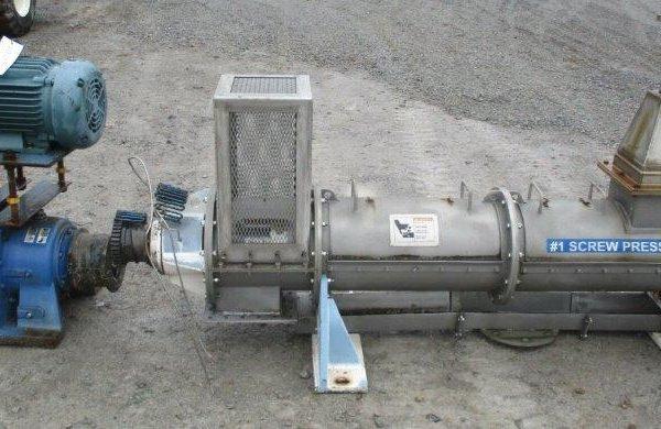 Kadant Mdl S23-2 304 Stainless Steel Screw Press
