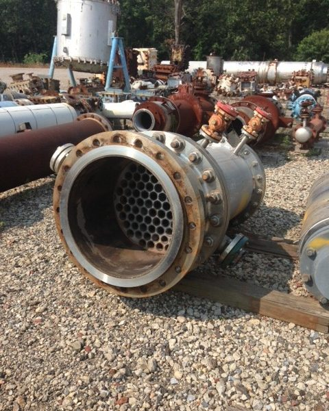 75 Sq. Ft. Allyn American Vertical Shell and Tube Heat Exchanger Stainless Steel