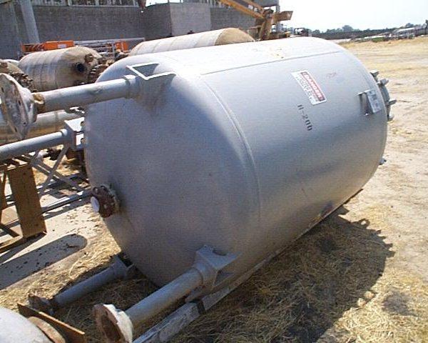 1,000 Gallon, 63″ X 5′, 50 PSI/FV, De Dietrich Glass Lined Tank